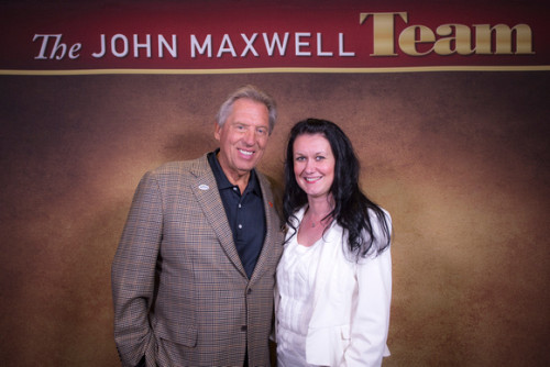Sanela with her mentor Dr John C Maxwell
